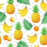热带水果样式 免版税库存图片