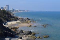 热带头顿海滩在越南 库存图片