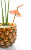 热带2份饮料的菠萝 库存照片
