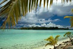 热带bora的海岛 库存图片