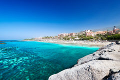 热带El杜克海滩美丽的海水  免版税库存图片