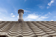 热度控制的一个屋顶通风设备 图库摄影