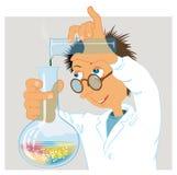 热心地参与研究工作科学家 库存照片