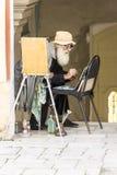热情关于艺术家的工作 免版税库存照片