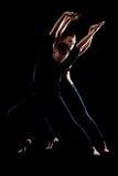 热情的夫妇跳舞 免版税库存照片
