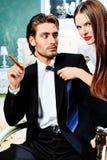 热情的夫妇 免版税图库摄影