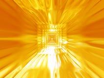 热抽象背景的金子 向量例证
