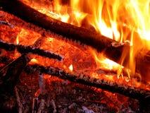 热明亮的火 库存照片