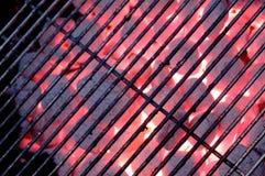 热木炭的格栅 免版税库存照片
