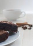 热果仁巧克力的可可粉 免版税图库摄影