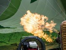 热气球的燃烧器 免版税库存图片