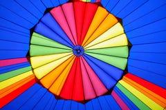 热气球的片段 免版税库存图片