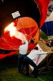 热气球的陈列 免版税库存图片