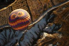 热气球的cappadocia 免版税图库摄影