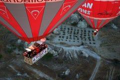 热气球的cappadocia 免版税库存照片