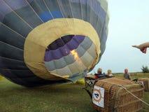 热气球,立陶宛 免版税库存照片