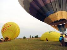 热气球,立陶宛 免版税图库摄影