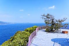 热海市和Sagami海湾看法  免版税库存图片