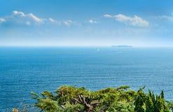 从热海市城堡看见的Sagami海湾,静冈,日本 库存图片