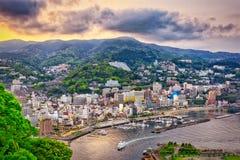 热海市,日本地平线 免版税图库摄影