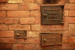 热灼烧的家庭熔炉 免版税库存照片