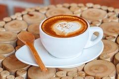 热热奶咖啡的咖啡 库存图片