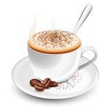 热热奶咖啡的杯子 库存图片