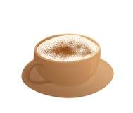 热热奶咖啡 免版税库存图片