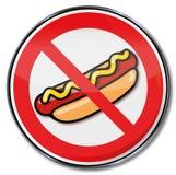 热狗的禁止用香肠和芥末 库存图片