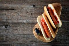 热狗`庆祝的万圣夜手指` 食物为万圣夜 库存图片