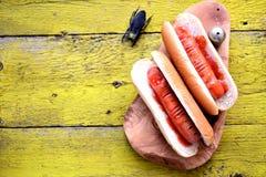 热狗`庆祝的万圣夜手指` 食物为万圣夜 库存照片