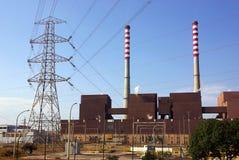 热电的工厂 库存照片
