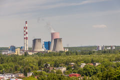 热电站- Lagisza,波兰,欧洲 免版税库存照片