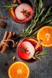 热的冬天被仔细考虑的酒 免版税图库摄影
