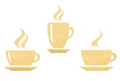 热的咖啡杯标志 库存照片