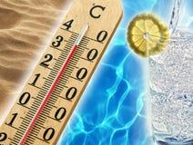 热的夏天天气 免版税库存照片
