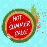 热的夏天销售模板 免版税库存图片