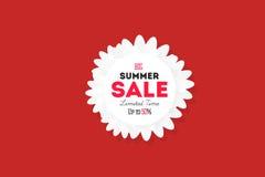 热的夏天销售横幅 传染媒介折扣横幅模板 库存图片