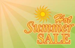 热的夏天销售横幅 免版税库存图片