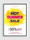 热的夏天销售海报、横幅或者飞行物 免版税库存照片