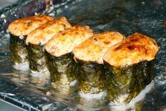 热的寿司 免版税库存图片