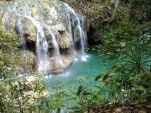 热的小河在危地马拉 库存图片