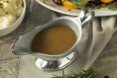 热的布朗有机土耳其小汤 免版税图库摄影