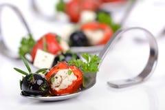 热的希腊开胃菜 图库摄影