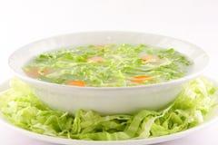 热的开胃菜圆白菜汤 免版税库存照片