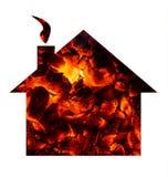 热的房子conept 库存图片