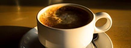 热的无奶咖啡 免版税图库摄影