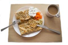 热的早餐 免版税库存照片