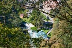 热的来源顶视图在矿泉水公园在博尔若米 佐治亚 免版税库存照片