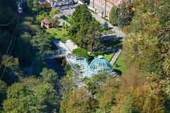 热的来源顶视图在矿泉水公园在博尔若米 佐治亚 库存照片